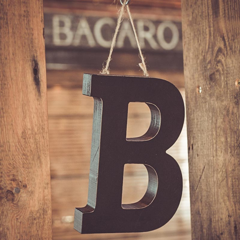 Bacaro rustic decoration